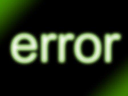 abstract green neon glow error message