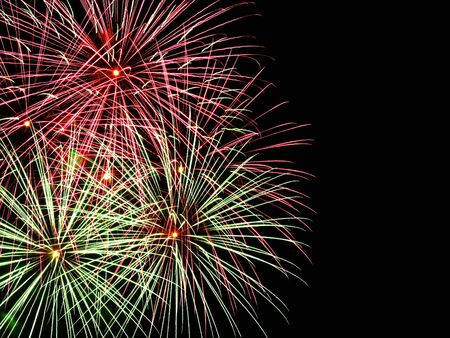 Fireworks and copyspace