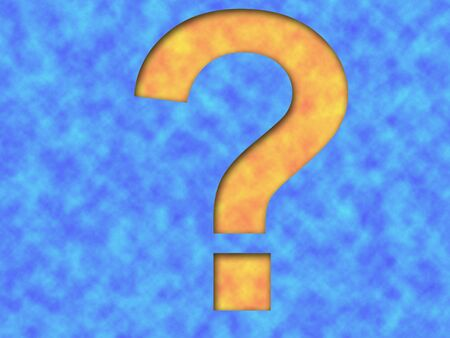 know how: General question mark or more specifically image representing questions regarding global warming Stock Photo