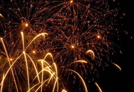 guy fawkes night: Golden fuochi d'artificio Archivio Fotografico