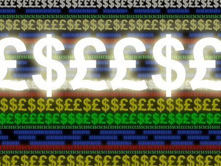 Image representing general currency exchange concepts or more specifically electronic currency exchange Banque d'images