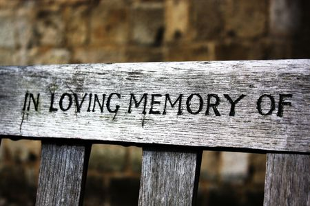 lost love: In loving memory of words chiselled into a wooden bench