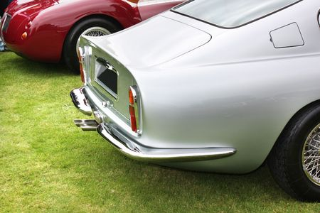 Rear of luxury car - detail Banque d'images
