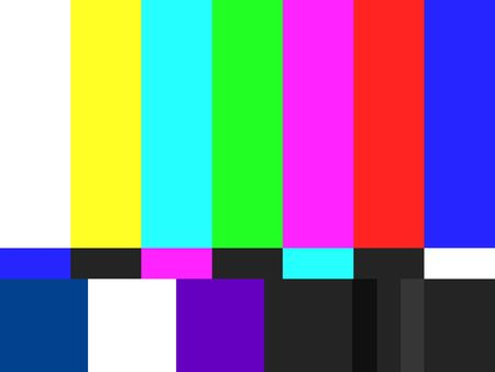 telly: TV colour bars