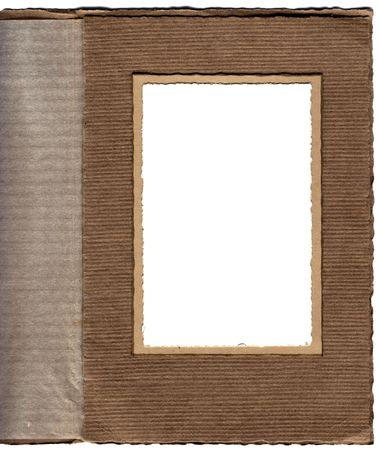 Antique card photo frame. Ideal for geneaology, scrapbooking and similar projects photo