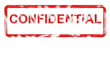 Grungey rubber stamp stating confidential and copyspace