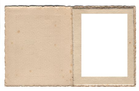picture window: Old antique card photo frame from the 1920s with space for copy or image etc. Ideal for scrapbooking