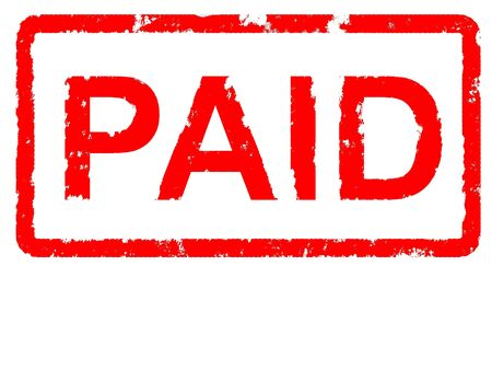 Grungey rubber stamp stating PAID - with copyspace