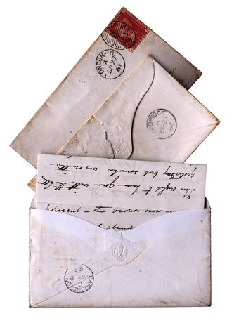 franked: Letters and envelopes from the age of Queen Victoria - these are all from the 1860s