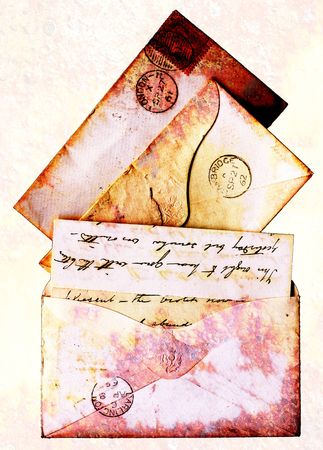 Letters and envelopes from the age of Queen Victoria - these are all from the 1860s photo