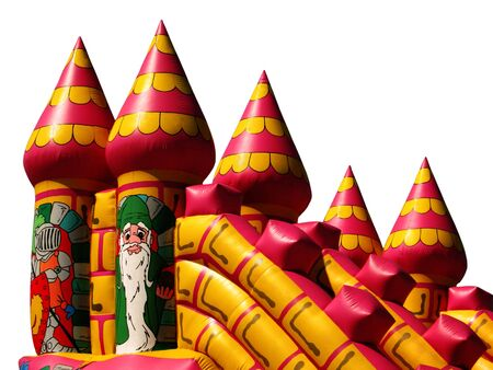 Isolated Bouncy Castle Stock Photo