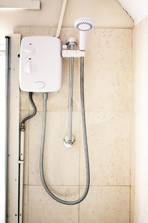 Typical shower unit in a typical home photo