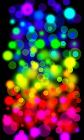 Rainbow of out of focus light - ideal background for christmas or celebration projects Stock Photo - 5659436