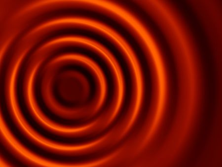 Brown shades concentric ripples useful for concepts from food to physics Stock Photo