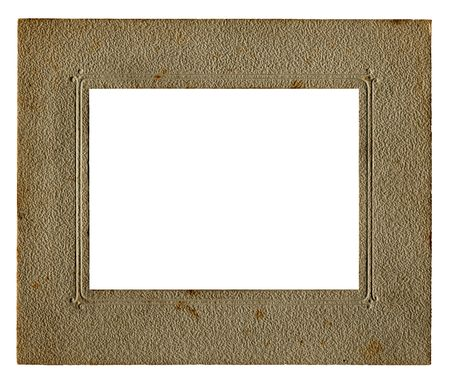 Vintage picture frame with white space for your own image