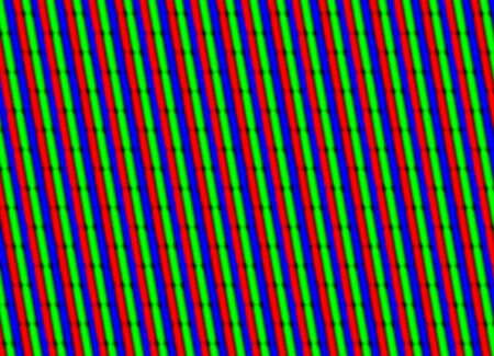 cathode ray tube: TV close up of red green blue elements