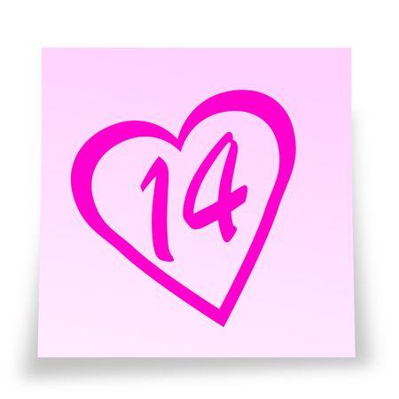 notelet: Valentines day reminder sticky notelet