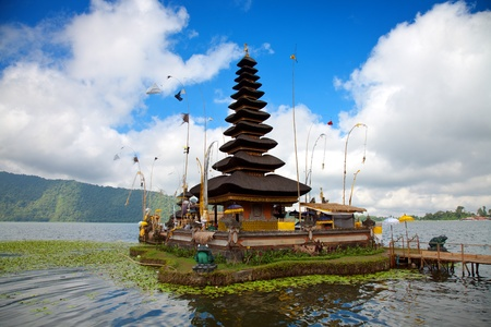 Pura Ulun Danu temple on lake, Bali Indonesia