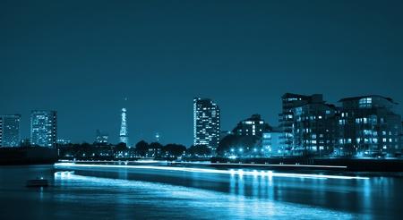 City full of light at night photo