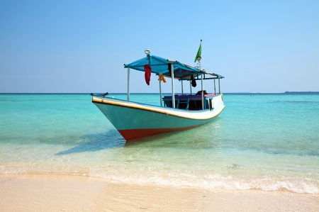 Boat on a beach in Karimunjawa, Indonesia