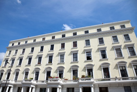 stereotypically: Block ol old British Georgian houses in London