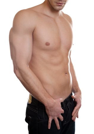 Man with a toned muscular body