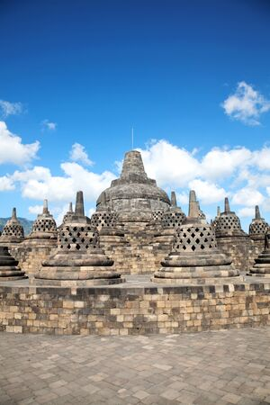 Ancient Borobudur temple in Indonesia photo