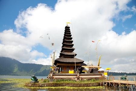 Pura Ulun Danu temple on lake, Bali Indonesia photo