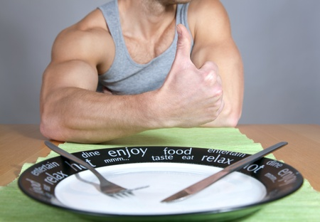 Thumbs up for healthy diet photo