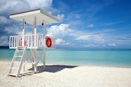 Beach guard tower in Boracay, Philippines photo