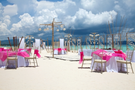 Luxury beach wedding in Boracay, Philippines  photo