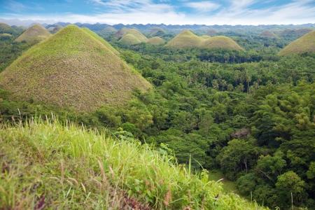 Chocolate Hills in Bohol, Visayas, Philippines photo