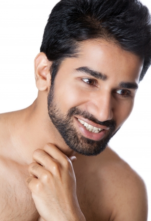 male grooming: Portrait of a smiling young man Stock Photo