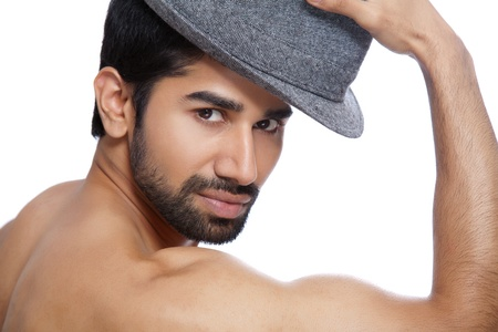 Portrait of a man wearing a hat Stock Photo - 14716182