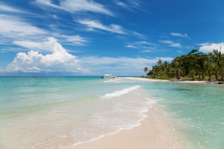 philippine: Beautiful beach on Bantayan island, Philippines Stock Photo