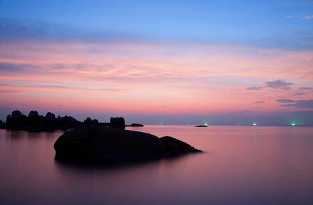 koh tao: Sunset on Sairee beach Koh Tao, Thailand