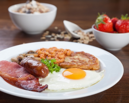 british food: Tasty looking full English breakfast