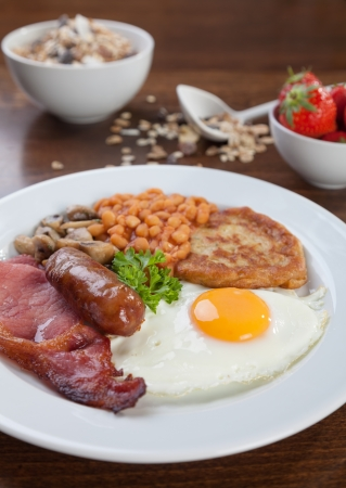 Tasty looking full English breakfast photo