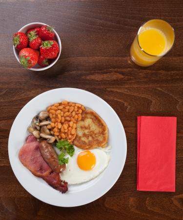 english breakfast: Traditional full English breakfast