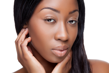 pretty black woman: Portrait of an young black beauty