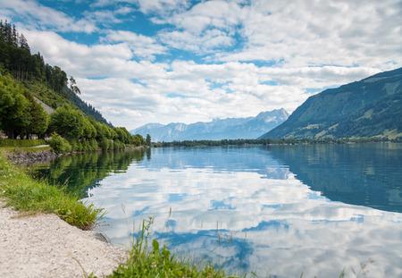 kitzsteinhorn: Zell Am See lake in Austria in the summer