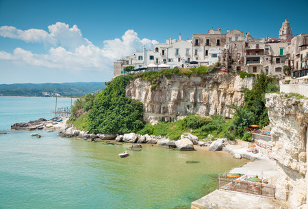 Old seeside town of Vieste in Puglia, Italy