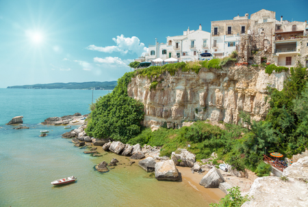 south italy: Old seeside town of Vieste in Puglia, Italy