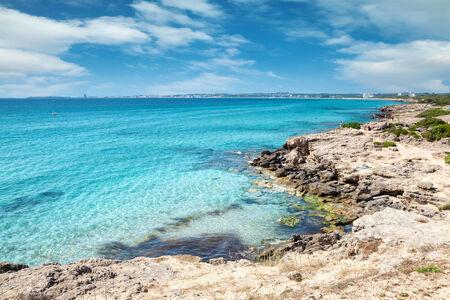 Beautiful crystal clear turquoise beach near Gallipoli, Italy