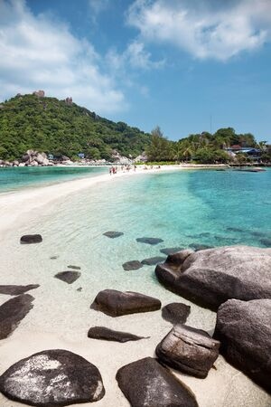 nangyuan: Beautiful beach with crystal clear water in Koh Tao, Thailand