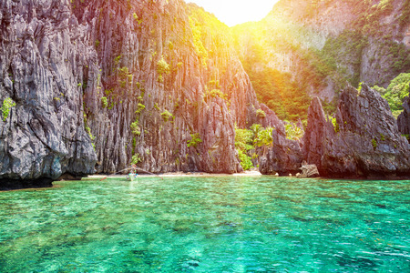 Beautiful landscape scenery in El Nido, Philippines Stock Photo - 40967419