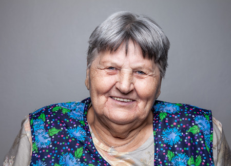 elderly: Closeup portrait of an elderly woman Stock Photo