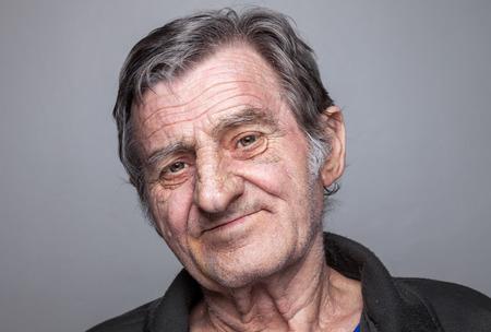 Closeup portriat of an elderly man Standard-Bild