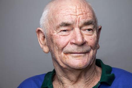 Closeup portriat of an elderly man Stok Fotoğraf