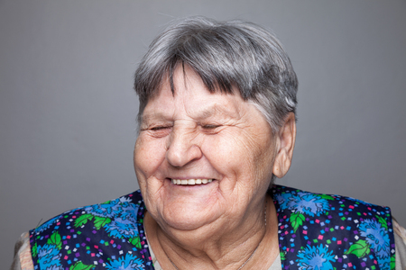 face female: Closeup portrait of an elderly woman Stock Photo
